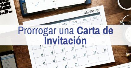 prorroga carta de invitacion