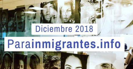 Noticias Destacadas de Parainmigrantes. Diciembre 2018