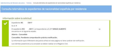 resolución favorable Sergio Alberto