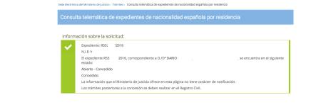 Datos de las nuevas resoluciones de nacionalidad de 2016: Dario