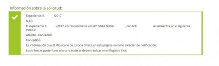 Concesiones de nacionalidad: Sara Sofía contencioso