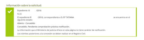 concesiones de nacionalidad Tatiana. PRESENTADO EN VIA ADMINISTRATIVA SIN CONTENCIOSO, PRESENTADO EL DIA 18 DE ABRIL DEL 2016