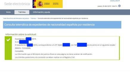 Concesiones de Nacionalidad Española Asjad