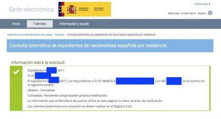 Concesiones de Nacionalidad Española Marcela del Pilar