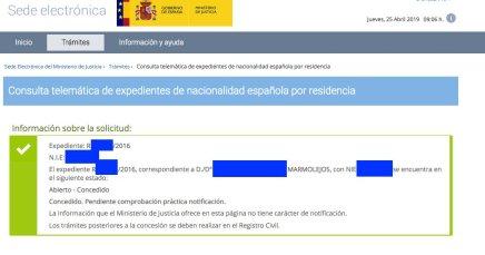 Concesiones de Nacionalidad Española clientes