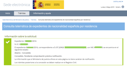 Concesiones de Nacionalidad Española Jorge