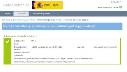 resoluciones de concesión de nacionalidad española Libia