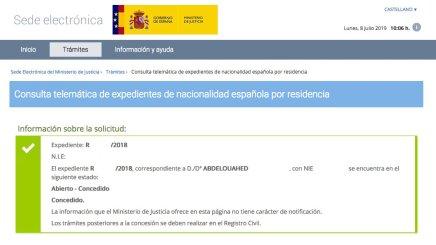 Resoluciones de Concesión de Nacionalidad Española Abdelouahed