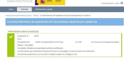 Resoluciones de Concesión de Nacionalidad Española Ala