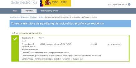 Resoluciones de Concesión de Nacionalidad Española Pablo