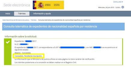 concesion M. recurso reposicion nuevo procedimiento