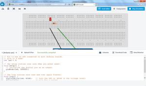 Editor de código para o Arduino no 123d.Circuits.io