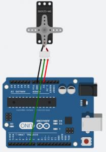 Modelo da montagem do servo no Arduino