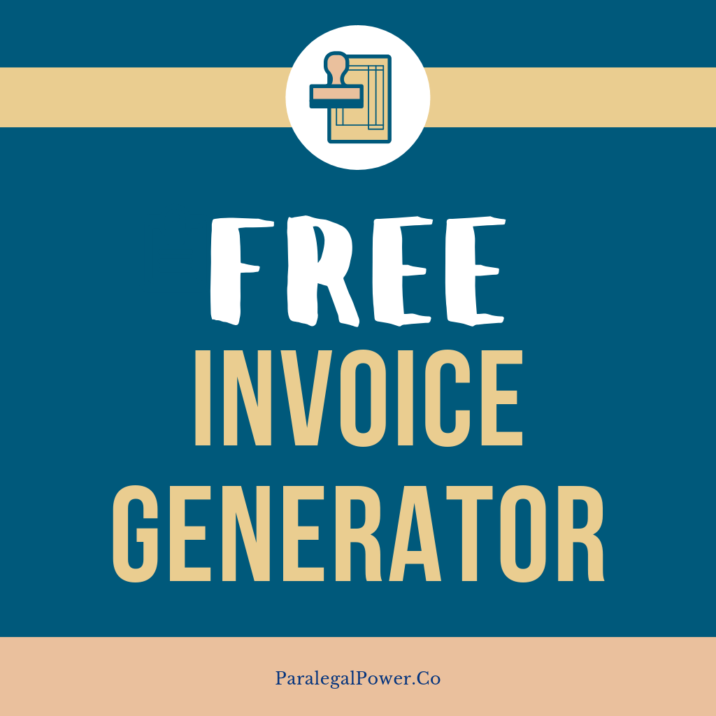 Free Invoice Generator   Paralegal Power Business Tools