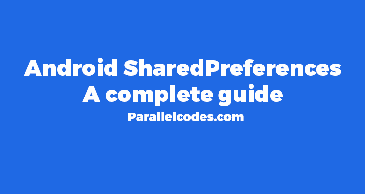 Android 4SharedPreferences