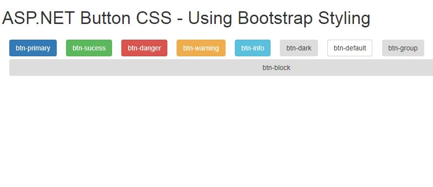 ASP NET Styling Buttons Using Bootstrap CSS • ParallelCodes