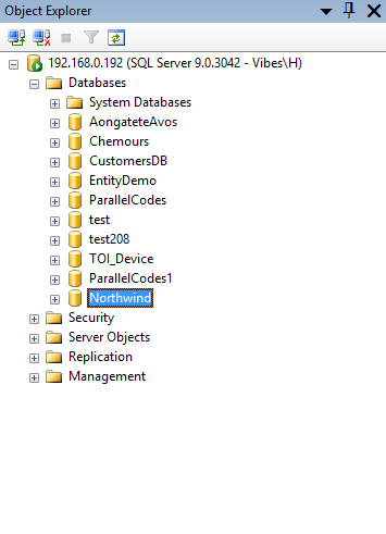Install and Attach Northwind Database in SQL Management Studio
