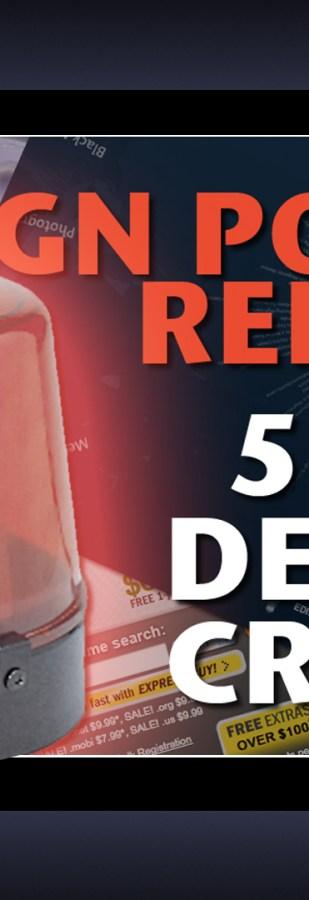 Design Police Report 5 Web Design Crimes