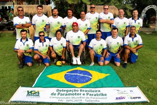 Equipe Brasileira de paramotor no Campeonato Mundial de Paramotor na Tailandia 2018