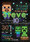 Minecraft Invitation Minecraft Birthday Party