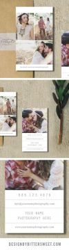Wedding photography business card Business card template grapher business cards