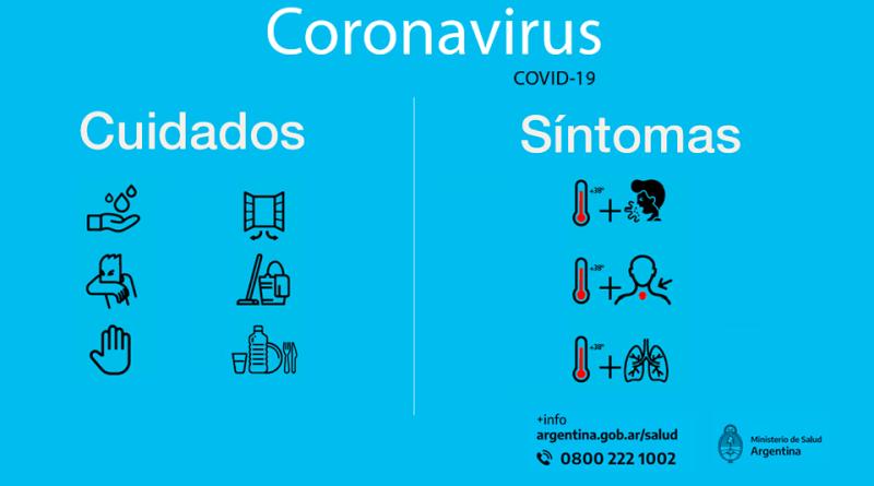 Recomendaciones y síntomas del Coronavirus