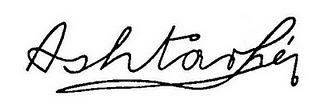 La signature de « Ashtar Sheran », dessinée par l'un des « contactés » du groupe Speer de Berlin