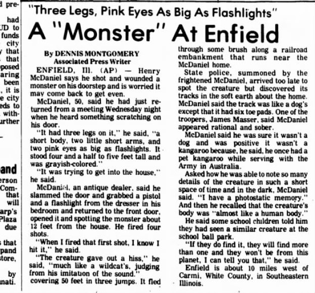 The Enfield Monster Mt. Vernon Register-News