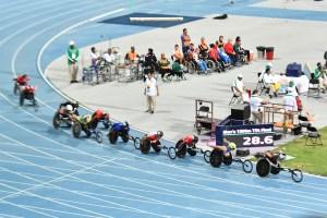 車いすレーサーたちの熾烈な位置どり合戦。1500m決勝は総合力。ドバイ2019パラ陸上世界選手権