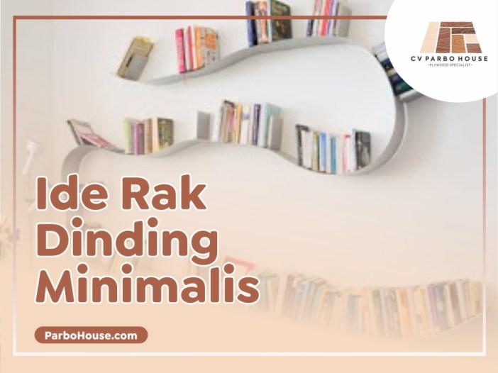 Ide Rak Dinding Minimalis
