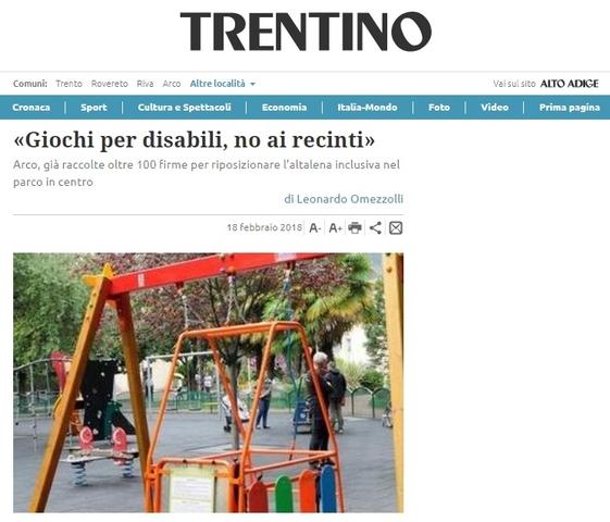 Giochi per disabili, no ai recinti