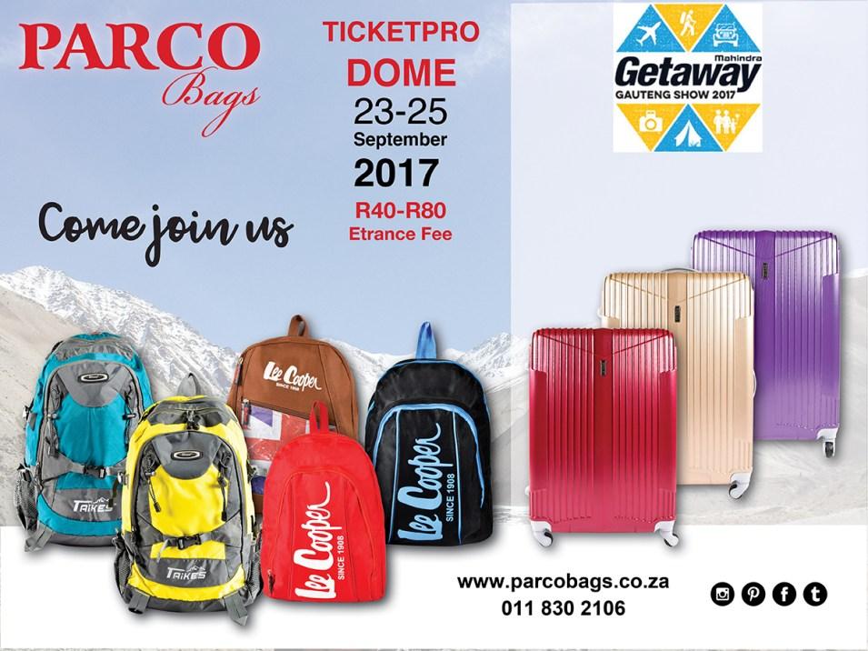 Gauteng Getaway Show Parco Bags