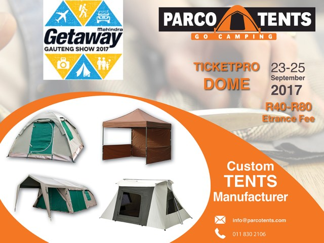 Gauteng Getaway Show Parco Tents
