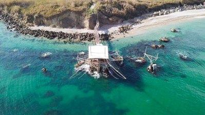 Trabocco Punta Mucciola vista alta dal mare