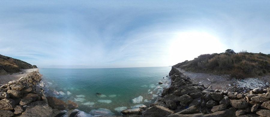 panorama Spiaggia di torre sinello