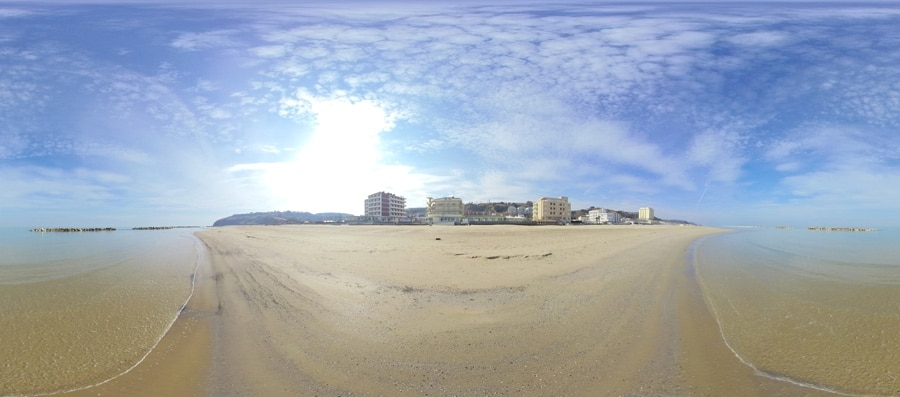 Panorama Spiaggia di Lido Riccio