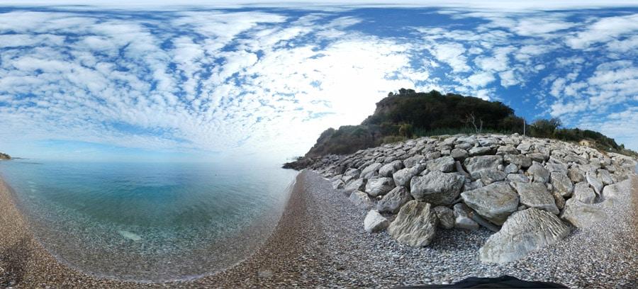 promontorio dannunziano la spiaggia