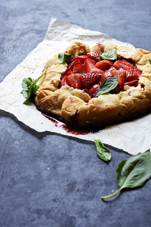 Strawberry-Basil-Galette