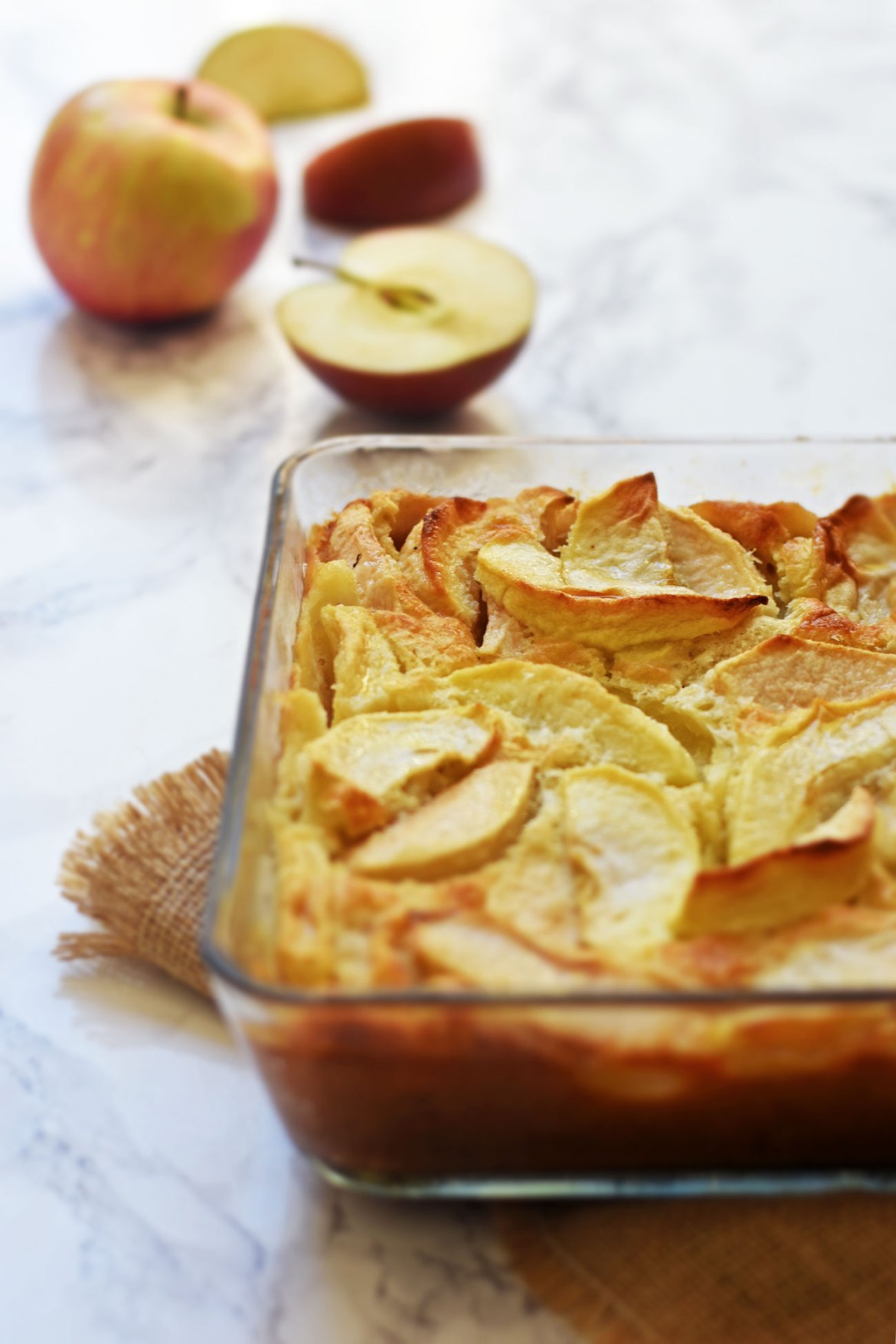 Calvados and Apple Flan