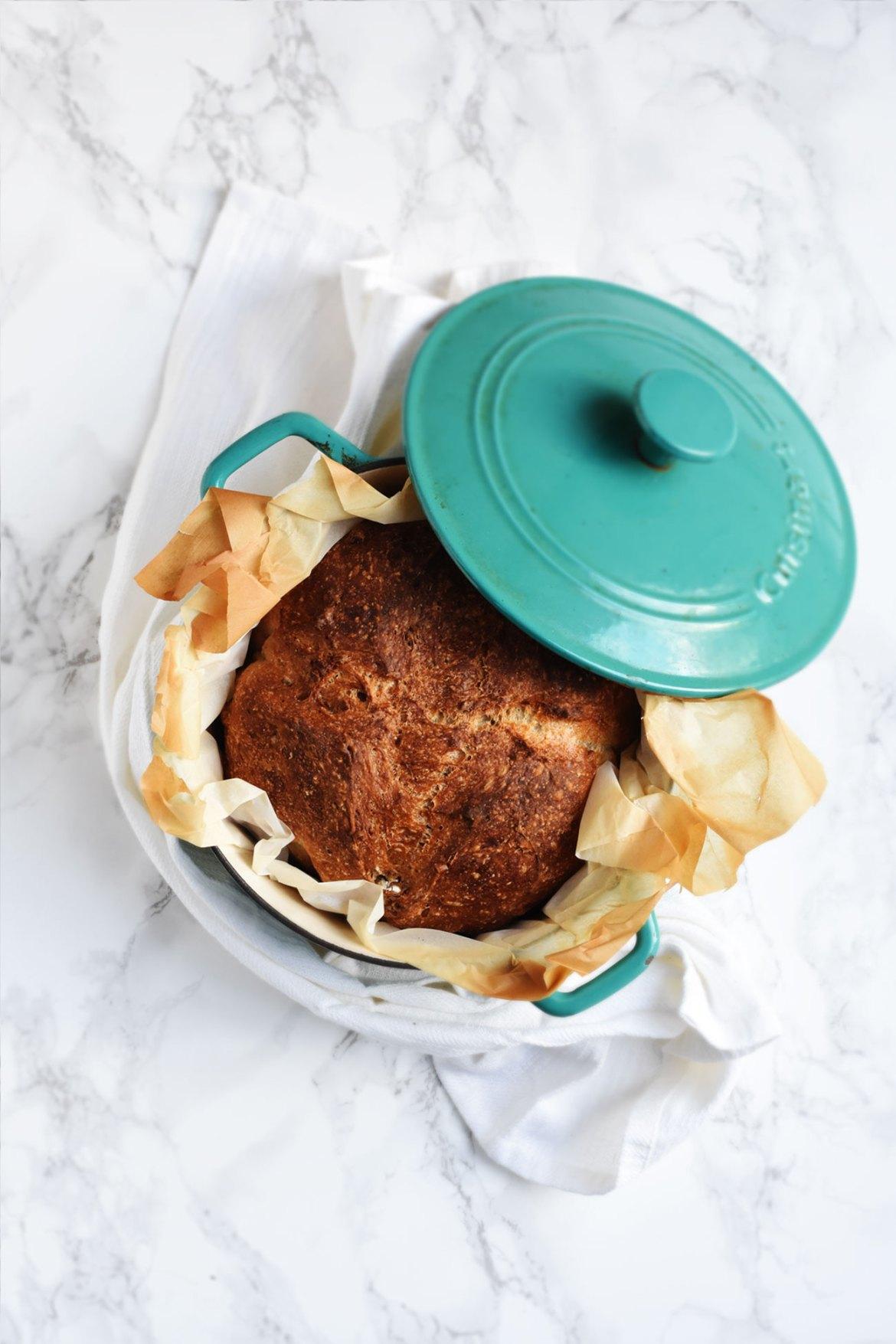 No-knead Dutch Oven Nutty Boule (5)
