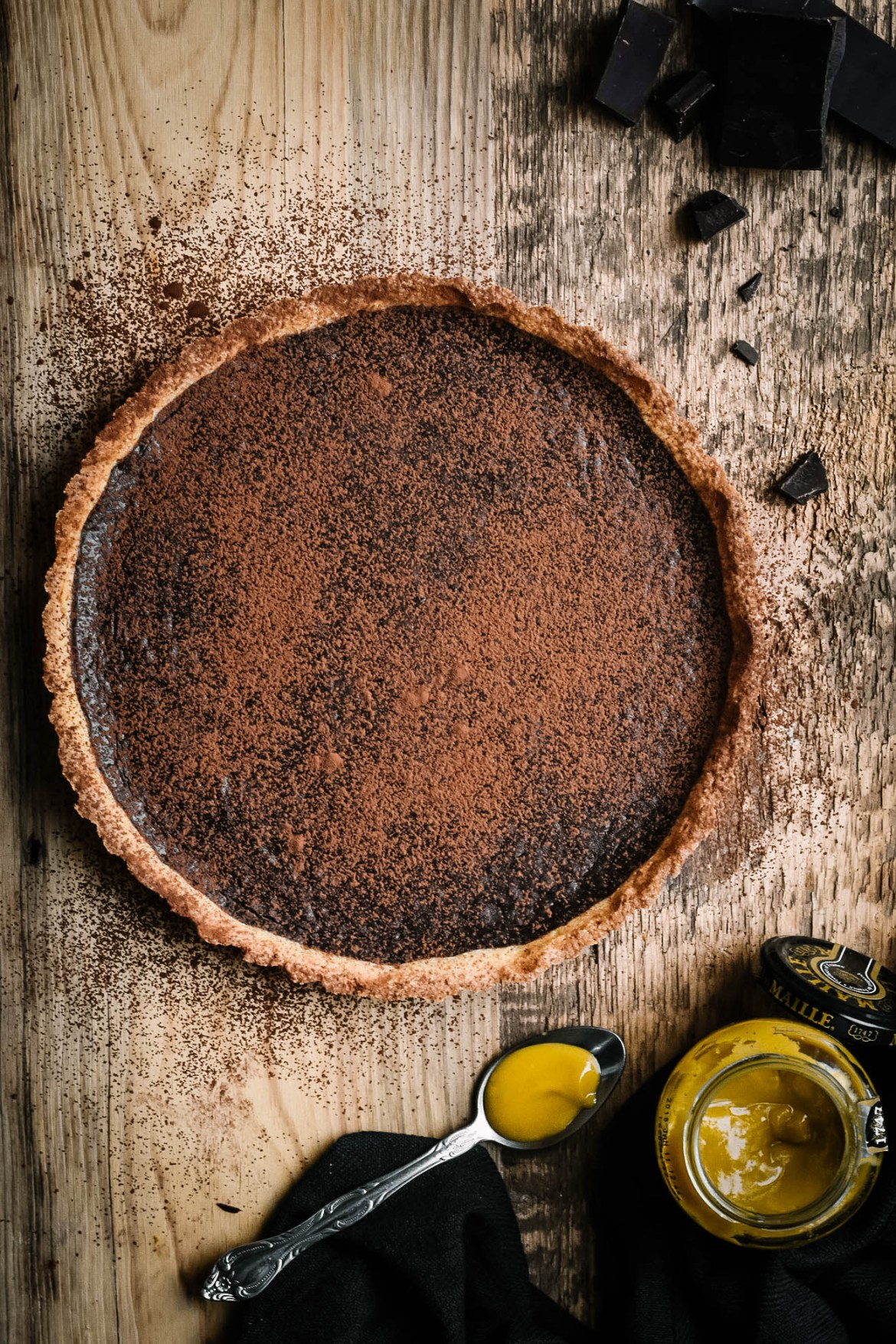 Dark Chocolate Honey Mustard Tart (3)