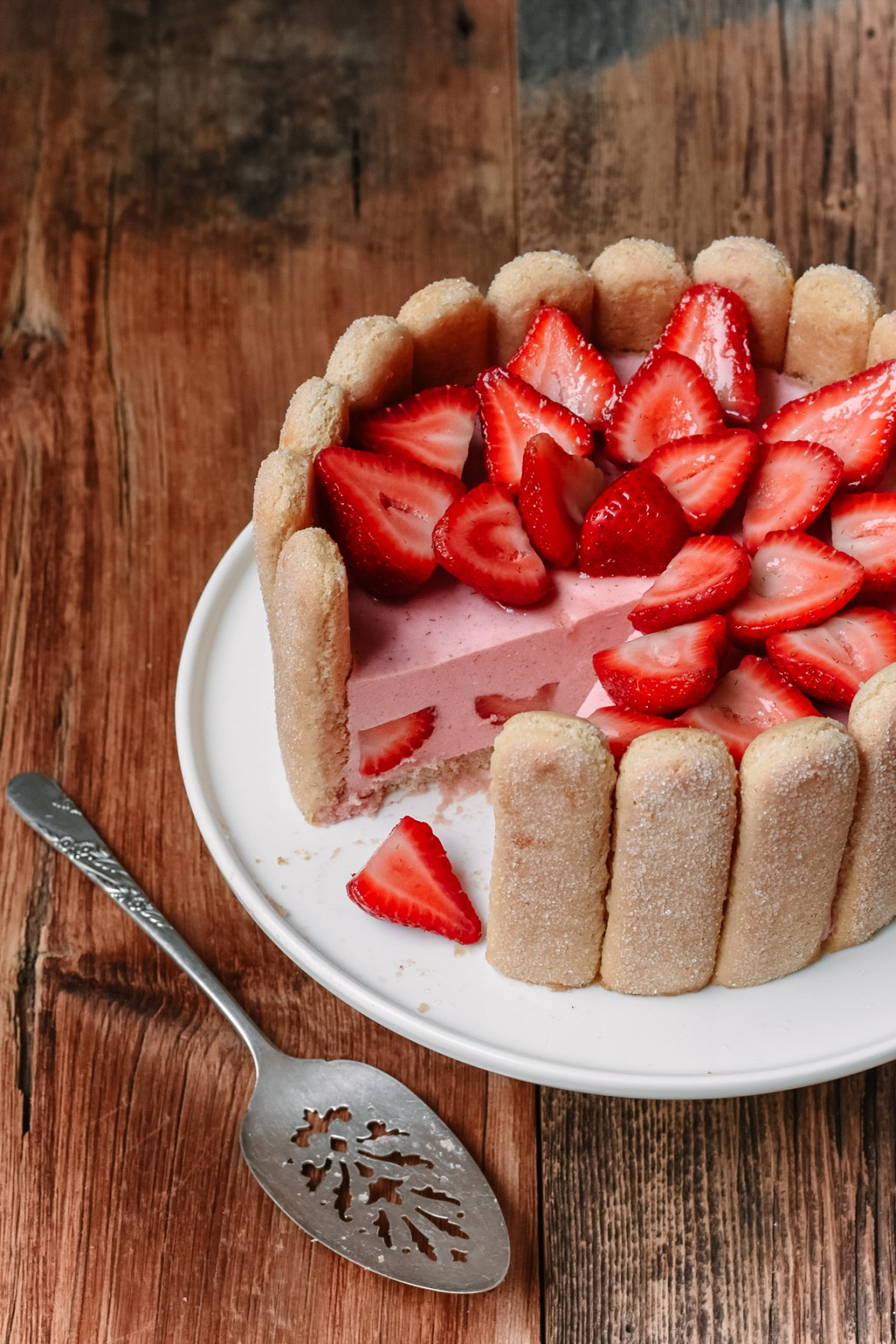 Strawberry Charlotte Cake Pardon Your French