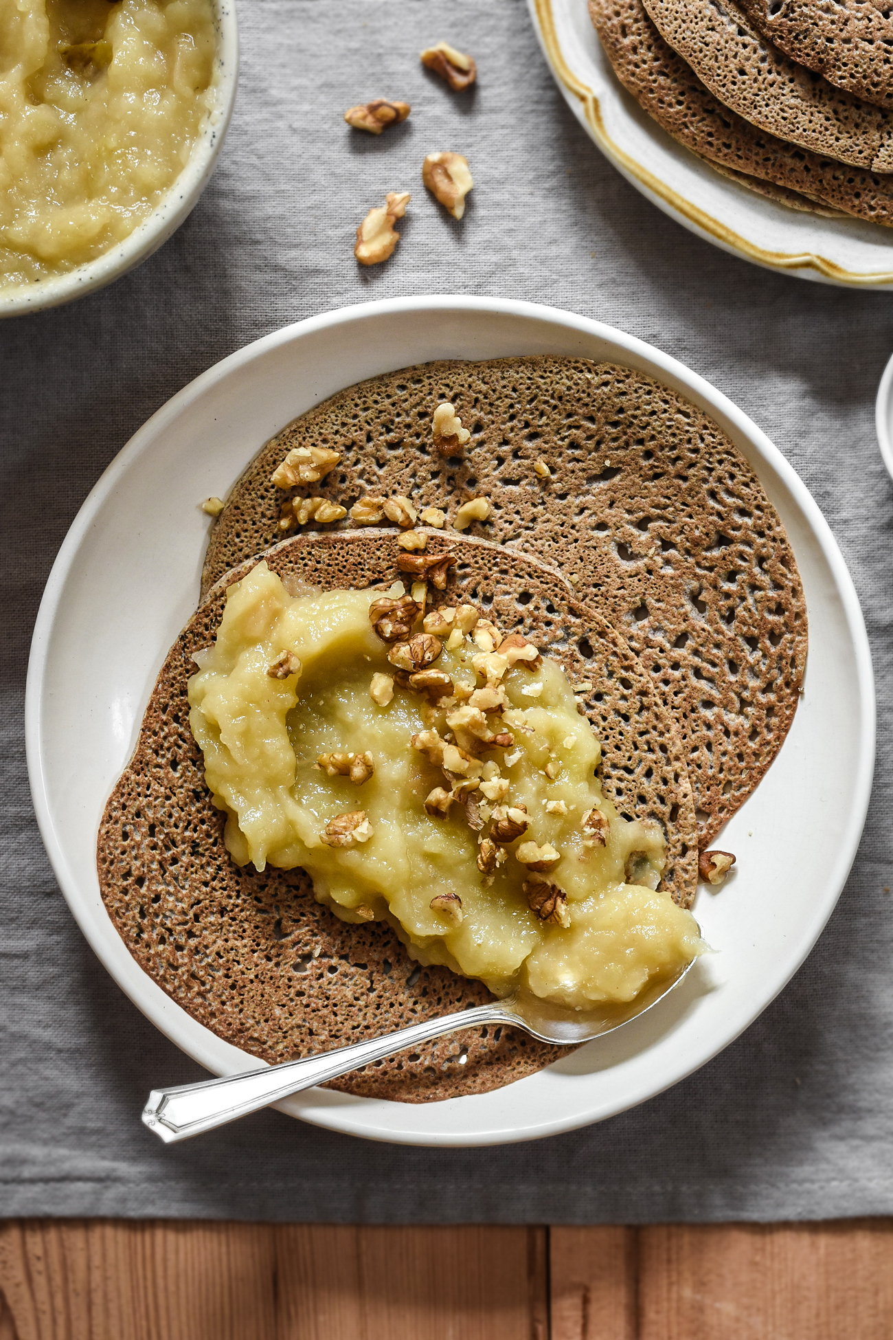 Brittany Style Buckwheat Pancakes And My Favorite Apple Compote Recipe Pardon Your French