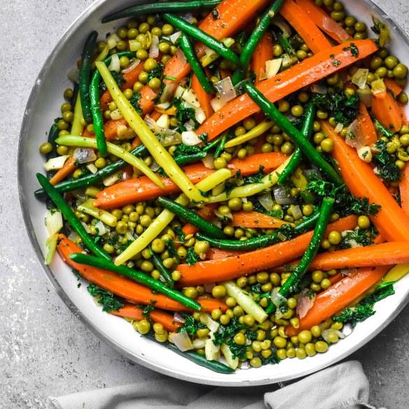Herby Sugar Glazed Spring Vegetable Jardinière (2)
