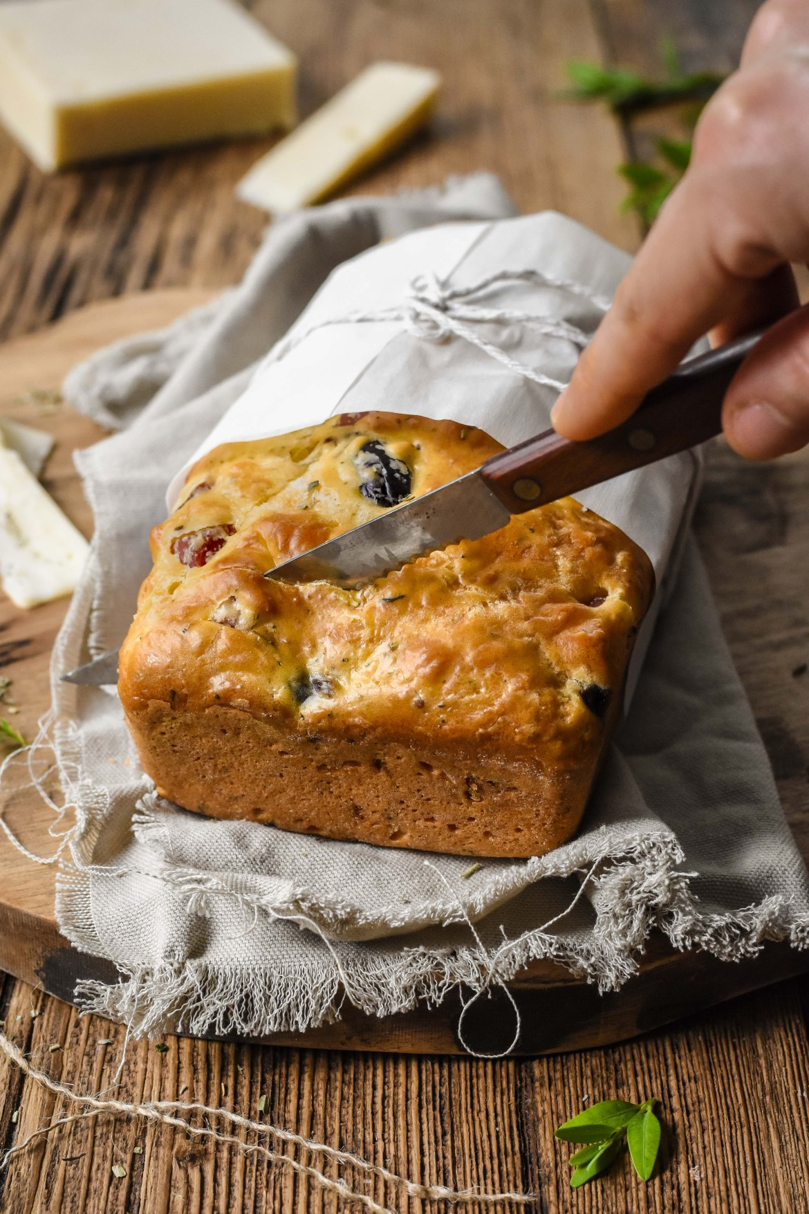 Ham Cheese and Olive Bread