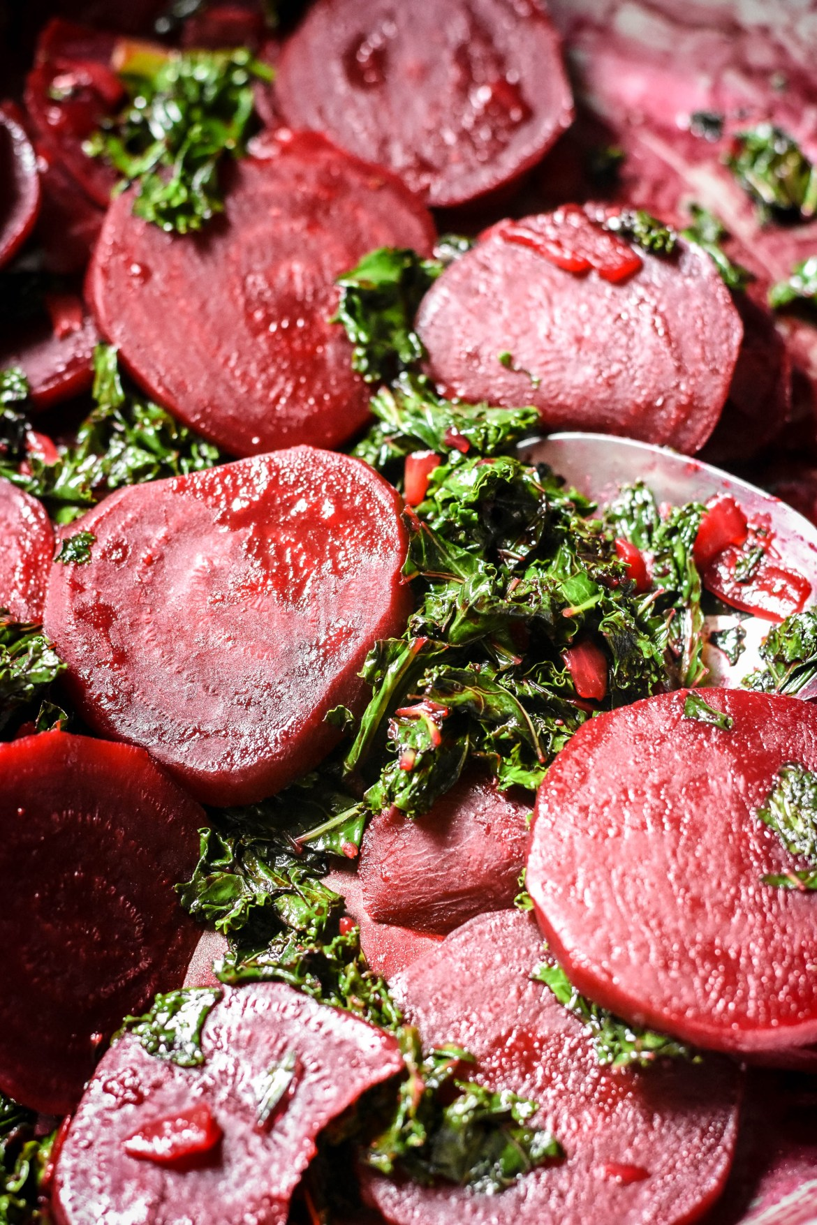 Poitou-Style Braised Beets with Kale