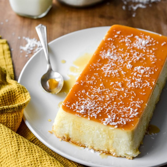 French Antilles Coconut Flan (Flan Coco) - Pardon Your French