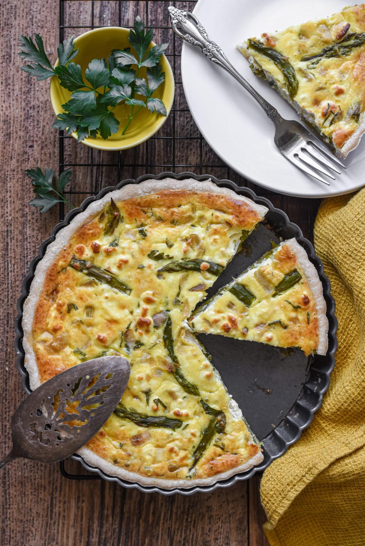 Asparagus Goat Cheese Quiche