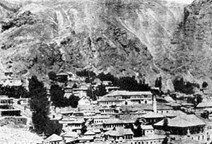 Άποψη της μεταλλοφόρας Αργυρούπολης (Γκιουμούς-χανέ, δηλ. πόλης του ασημιού)
