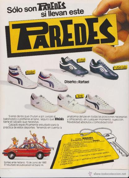 Zapatillas Paredes. Retro y nostalgia ochentera